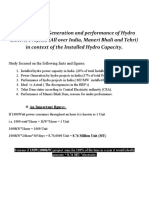 Ganga Ahvaan Report - Analysis of the Generation and Performance of Hydro Electric Projects