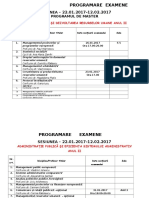 Prog.ex. ANUL II 2016-2017