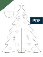 EzyCraft Paper Christmas Tree Template 1