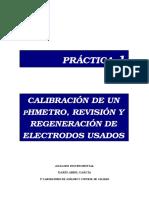 Practica 1. Calibración de PHmetros y Revisión Electrodos