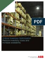 Critical Inventory Optimization Br