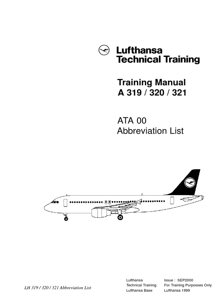 airbus abreviation pdf rh es scribd com Lufthansa A380 Business Class Lufthansa Flight Attendant