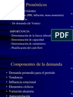 Pronosticos de demanda en produccion u operaciones
