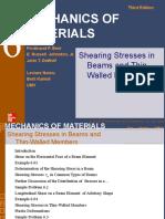 6 Shearing Stresses Week#9