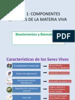 1. Tema 1 La Naturaleza Básica de La Vida. Bioelementos y Biomoléculasi