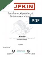 Lufkin Gear O & M Manual Nvq2207c IOM