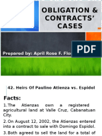 Obligation & Contracts' Cases