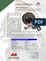 Solar Car Wheel Motor Information Sheet