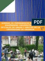 Normas de Permanencia Para Las Enseñanzas Universitarias Oficiales