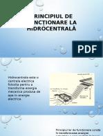 Principiul de Funcționare La Hidrocentrală