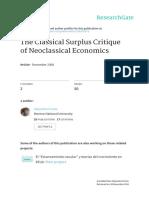 La Crítica Clásica Del Excedente Fiorito ,Eco Secularización