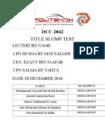 DCC 2042 SLUMP TEST