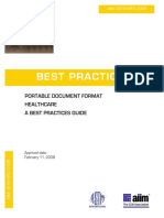 AIIM-ASTM BP01-2008 Best Practices. Portable Document Format Healthcare. a Best Practices Guide