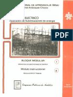 Vol. 6 Operación de Subestaciones de Energía - Bloque Modular 1 - Módulo Instruccional 6 Regulación de Tensión