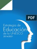 Estrategia Educacion Unesco 2014 2021