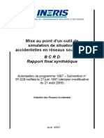 Mise Au Point d Un Outil de Simulation de Situations Accientelles en Reseaus Souterrains