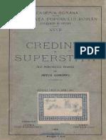 Artur Gorovei - Credinţe Şi Superstiţii Ale Poporului Român