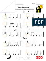 Music Worksheets Halloween Time Signature 001 (1)