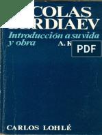 Klimov, Alexis - Nicolás Berdaiev. Introducción a Su Vida y Obra