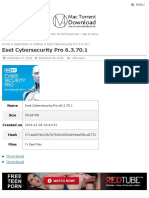 Eset Cybersecurity Pro 6.3.70.1 | Mac Torrent Download