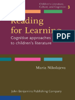 Reading for Learning Cognitive Approaches to Childrens Literature