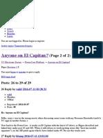 Anyone on El Capitan? (Page 2) — PowerCore Platform — TC Electronic Forum