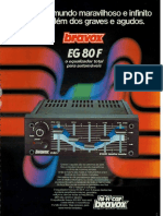 Sistema de Som Automotivo Bravox 1980