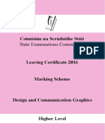 2016 Marking Scheme