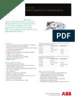 Effilight Traction Transformer Leaflet En