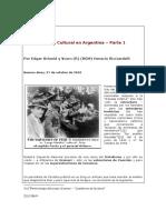 Guerra Cultural en Argentina.