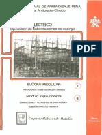 Vol. 8 Operación de Subestaciones de Energía Bloque Modular 1 Módulo Instruccional 8 Conductores y Elementos de Conexión en Subestaciones de Energía