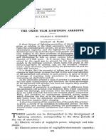The Oxide Film Lightning Arrester