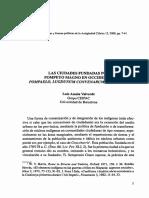 Las Ciudades Fundadas por Pompeyo Magno en Occidente. Pompaelo, Lugdunum Convenarum y Gerunda.pdf
