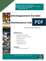 Le Developpement Durable & La Maintenance Industrielle
