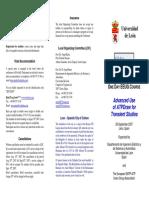 EEUG Course 2007 Leaflet