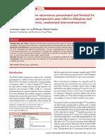 Comparison Between Intravenous Paracetamol and Fentanyl for Relief Pain