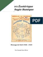 1969 Cours Esoterique de Magie Runique