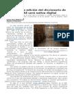 La Próxima Edición Del Diccionario de La RAE Será Nativa Digital