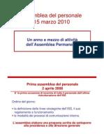Assemblea del 15.03.10 - Le attività dal 2008 al 2010
