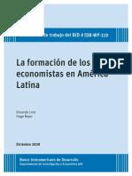 La Formación de Los Economistas en América Latina