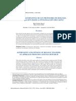 Concepciones Alternativas de los profesores de Biología