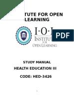 HED - 3426 Health Education III.doc