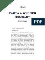 Carta de Engels a Sombart