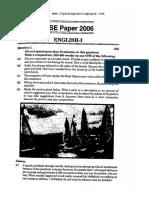 Icse English Class 10 2006