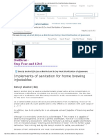 Benzyl Alcohol (BA) as a Disinfectant & Dry Heat Sterilization of Glassware