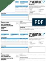 Gymshark Returns Note