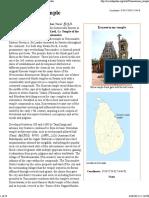 Koneswaram Temple - Wikipedia, The Free Encyclopedia