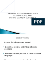 (CAPE) ESSAY WRITING IN SOCIOLOGY (Participants).ppt
