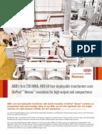 ABB Fast-Deployable 400 KV Transformer