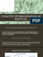 Catalytic Hydrogenation of Fatty Oil